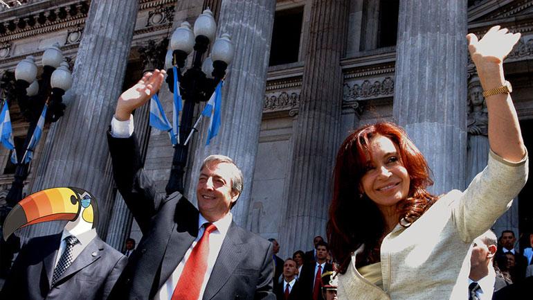 M. Toucannon, N. Kirchner y CFK