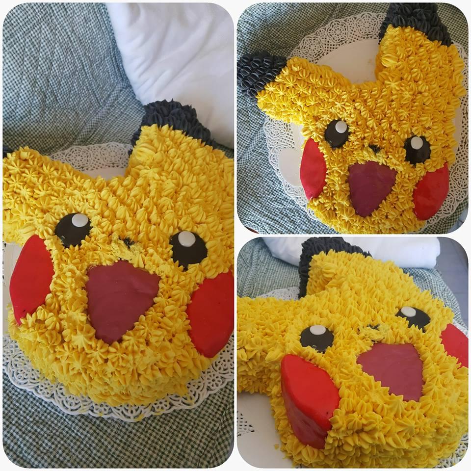 repostería Pokémon torta Pikachu